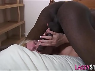 Lacey Star screwed silly by a ebony dude