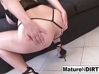 Blonde mature is craving some big ebony cock in her ass