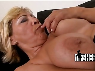 Dark cock stretching white vagina
