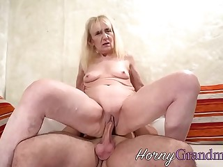 Cock riding granny sucks
