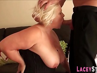 Cock sucking granny fucks