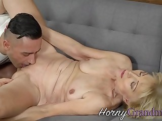 Naughty gilf takes cumshot