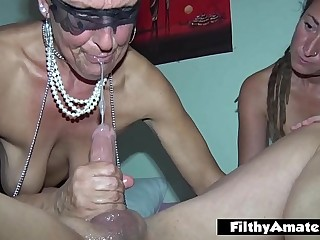 Rich granny squirt and deep throat with rasta milf