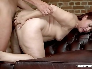 Horny Granny Riding a Hard Dong