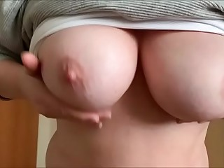 Granny show her tits and ass