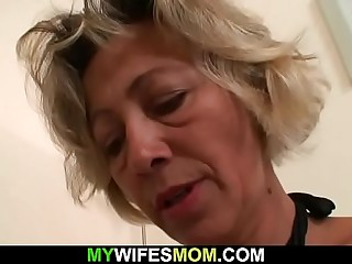Molten mominlaw sucks and rides his dick