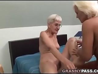 Hairy Granny Tries Lesbian Hookup