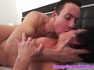Chubby grandma fucked and jizzed on by paramour