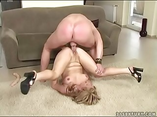 Scorching mother deepthroats a young cock