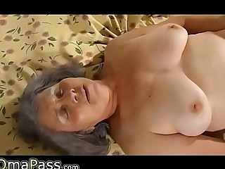 Chubby Lesbian Grandma with younger  theporncentral.com