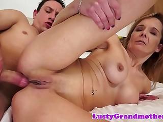 Anally doggystyled granny loves hard cock