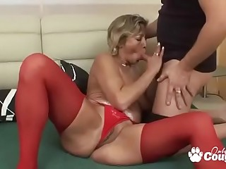 Granny Fucks In Gstring &amp_ Stockings