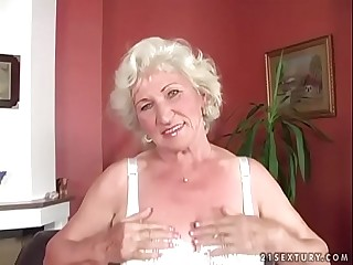 Granny Norma got her pussy bitchy hard