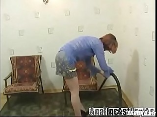 Russian granny fucking with young guy