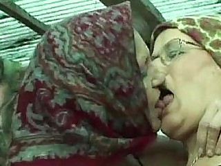 Granny Lesbians In A Horse Barn