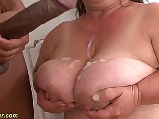 hairy bush bbw midget houswife granny gets rough big black cock interracial fucked in super-naughty flexible sex positions