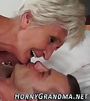 Gross old granny fucked and sucks cock