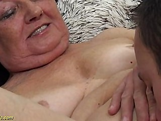 hairy 82 years old granny deep and rough pounded