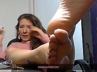 Granny Feet Smokes With You At Her Feet