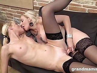 Lesbian Play Between 2 Hot Grannies