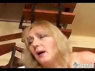Hot BBW Granny With Big Hooters Anal Fuck