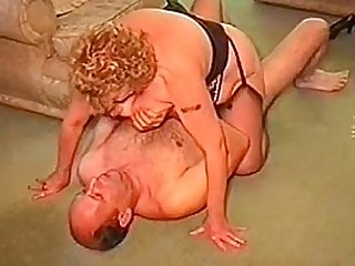 A fat granny has hookup with her husband