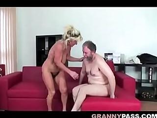 Bouncing Granny Boobs