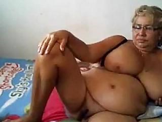 Light-haired granny mastrubation
