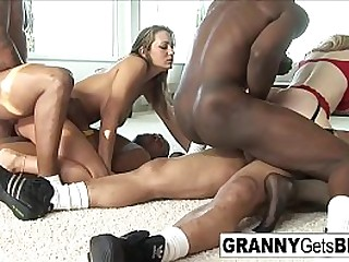 Hot granny gets both holes packed