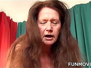 Wild Redhead German Granny