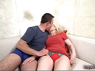 Granny Enjoys Big Cock