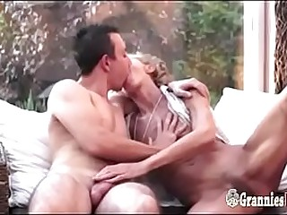 Young Dude Nails A Skinny S/M Granny