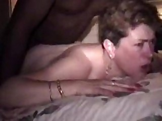 Interracial Anal Granny