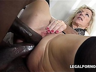 Two big seized cocks for older MILF