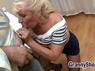 Granny Gets Pounded In Many Postures