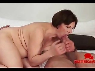 Showering BBW Granny Full On Facial