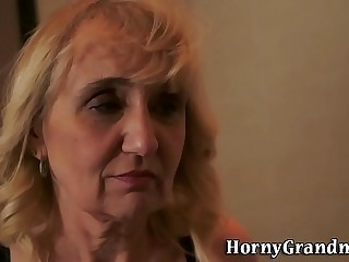 Mature grannys nut sack screwed