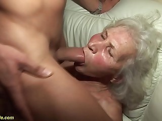 german granny in her first porno video