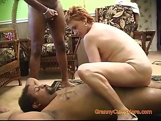 Bi-racial Gangbang with a Naughty Granny Part 2