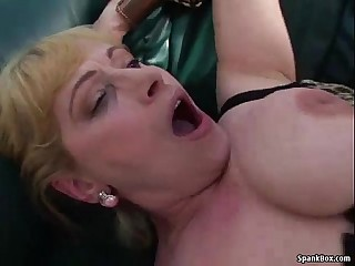 Busty mature gets her cunt stuffed