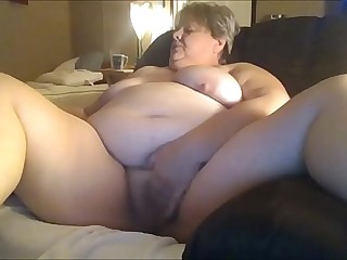 Chunky Granny Jerking For Her Younger Date