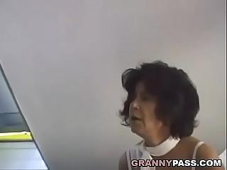Hairy Grandma Takes Young Shaft