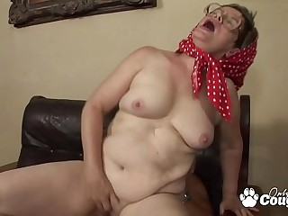 Saggy Old Granny Rides A Shaft Like Yesteryear