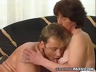 Hairy German Granny Gets Fucked