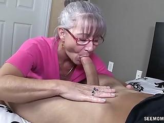 Horny Granny Deep-throats A Young Dick