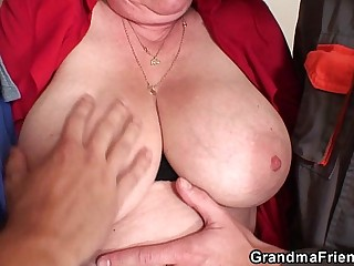 Nasty granny double penetration
