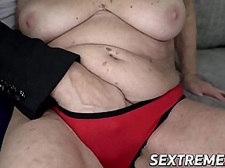 Busty granny slammed until facial cumshot