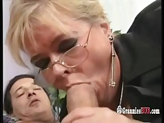 Chubby German Granny Blonde Loves To Ride Fat Firm Cock