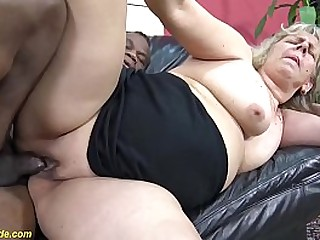 chubby pussy shaved 71 years old granny enjoys her very first time big seized cock interracial porn