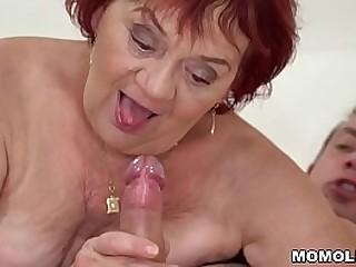 Granny loves her junior lover's company